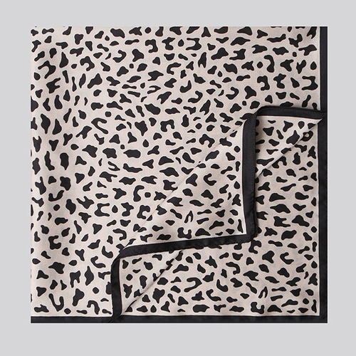 Twins Leopard Square Scarf
