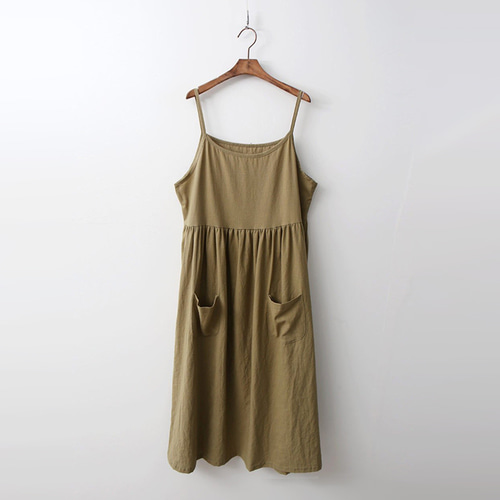 Linen Cotton Slip Long Dress