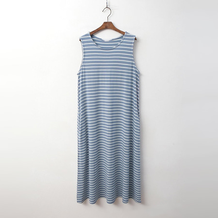 Stripe Tank Long Dress