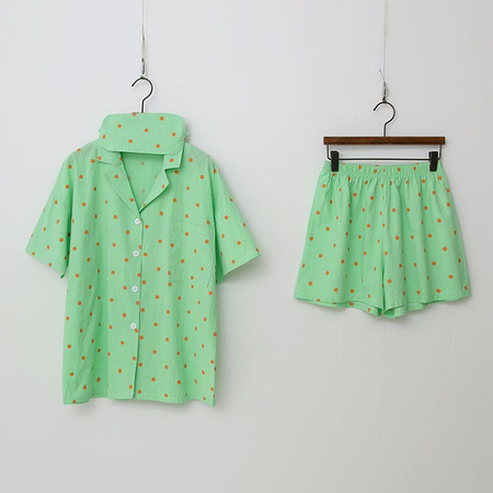 Color Dot Pajama Set - 안대포함