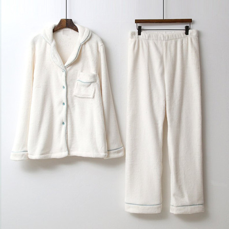 Soft Home Yolo Pajama Set - 극세사,커플룩