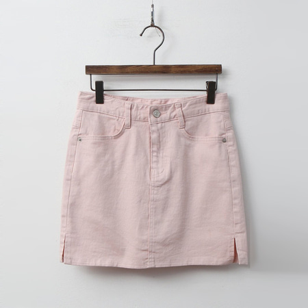Cotton Mini Skirt - 치마바지