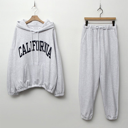[Set] California Hood Sweatshirt + Jogger Pants