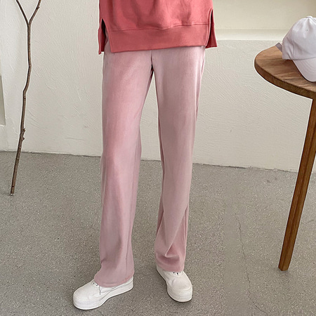 Corduroy Wide Pants - 기모안감