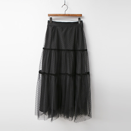 Dot Cha Cancan Long Skirt
