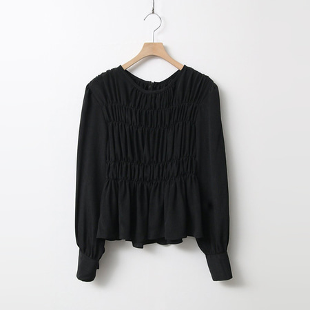 Shirring Smoked Blouse