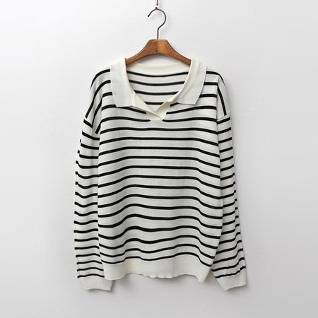 Modern Stripe Collar Knit