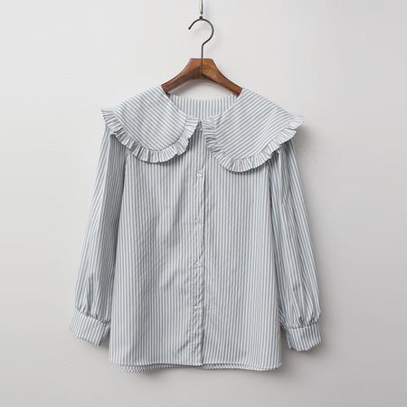 Frill Sailor Stripe Blouse