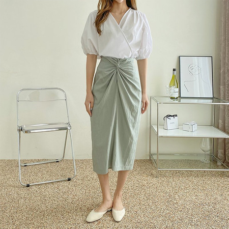 Twist Long Skirt