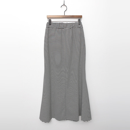 Stripe Mermaid Long Skirt