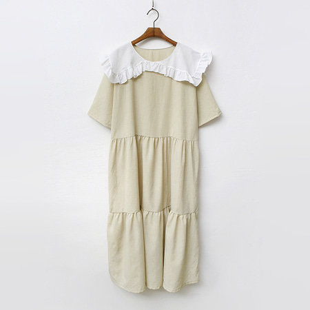 White Sailor Cancan Long Dress