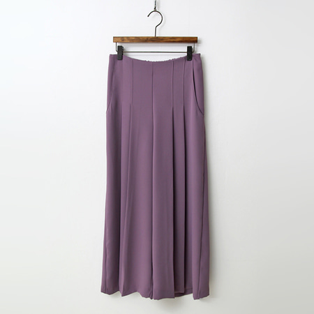 Lilac Pleated Wide Pants